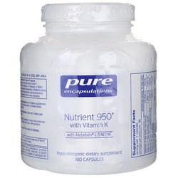 Pure EncapsulationsNutrient 950 with Vitamin K
