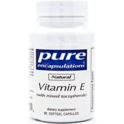 Pure EncapsulationsNatural Vitamin E (with mixed tocopherols)