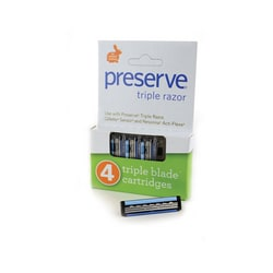 PreserveTriple Razor Blade Cartridges