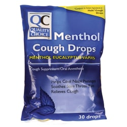 Quality ChoiceCough Drops Menthol