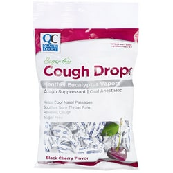 Quality Choice Cough Drops Black Cherry Sugar Free
