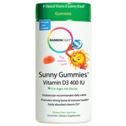 Rainbow LightSunny Gummies Vitamin D3 - Tangy Mandarin Orange