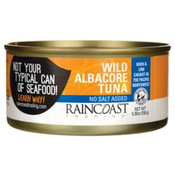 RaincoastSolid White Albacore Tuna No Salt Added