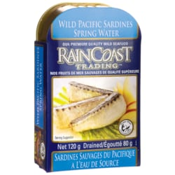RaincoastWild Pacific Sardines in Spring Water