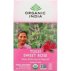 Organic IndiaSweet Rose Tulsi Tea