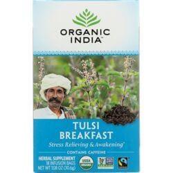Organic IndiaIndia Breakfast Tulsi Tea