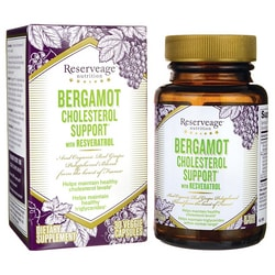 Reserveage OrganicsBergamot Cholesterol Support with Resveratrol