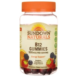 Sundown NaturalsB12 Gummies - Raspberry, Mixed Berry & Orange Flavored