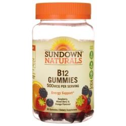 Sundown NaturalsB12 Gummies - Raspberry, Mixed Berry & Orange Flavored