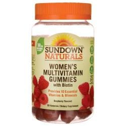 Sundown NaturalsWomen's Multivitamin Gummies with Biotin - Raspberry