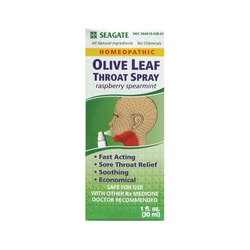 Seagate Olive Leaf Throat Spray Rasp/Spearmint