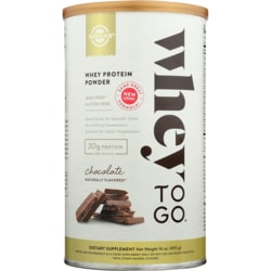 SolgarWhey To Go Whey Protein Powder - Chocolate Naturally Flavored