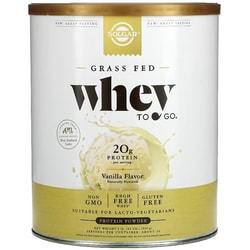 Solgar Whey To Go Whey Protein Powder Vanilla Naturally Flavored