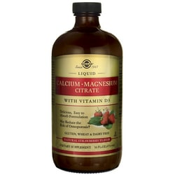 SolgarLiquid Calcium Magnesium Citrate with Vitamin D3 - Strawberry