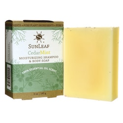 Sunleaf NaturalsMoisturizing Shampoo and Body Soap - Cedar Mint