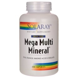 Solaray Mega Multi Mineral Iron Free