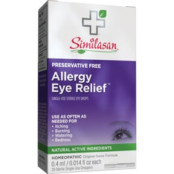 Similasan Allergy Eye Relief, gotas para ojos, un solo uso