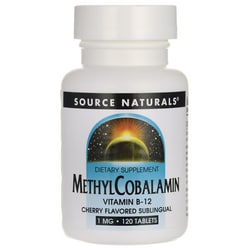 Source NaturalsMethylcobalamin Sublingual Cherry