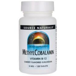 Source NaturalsMethylCobalamin Vitamin B-12 Cherry Flavored