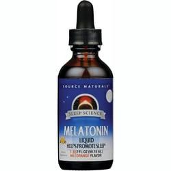 Source Naturals Melatonin Sublingual Liquid Orange Flavor