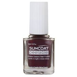 SuncoatPeelable Water-Based Nail Polish Mulberry
