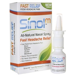 SinolSinol-M All-Natural Nasal Spray--Fast Headache Relief