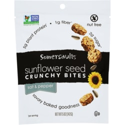 Somersault Snack Co.Sunflower Seed Crunchy Bites - Salt & Pepper