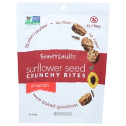 Somersault Snack Co.Sunflower Seed Crunchy Bites - Cinnamon