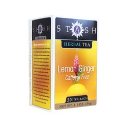 Stash TeaLemon Ginger Herbal Tea Caffeine Free