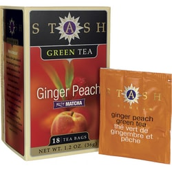 Stash Tea Ginger Peach Green Tea with Matcha