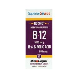 Superior SourceB-12 Methylcobalamin with B-6 & Folic Acid