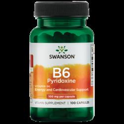 Swanson Premium Vitamin B-6 (Pyridoxine)