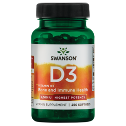 Swanson Premium Highest Potency Vitamin D-3 5000 IU