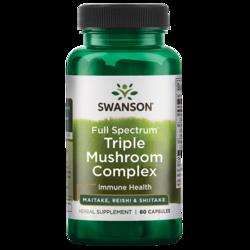 Swanson Premium Full Spectrum Triple Mushroom Complex