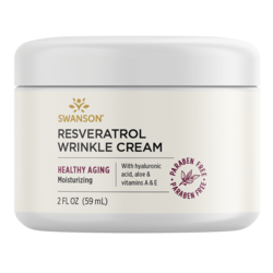 Swanson Premium Resveratrol Wrinkle Cream with Hyaluronic Acid