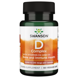 Swanson Premium Vitamin D Complex with Vitamins D-2 & D-3