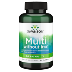 Swanson PremiumGeromulti without Iron (Multivitamin for Seniors)