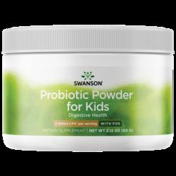 Swanson Probiotics Probiotic Powder with FOS for Kids
