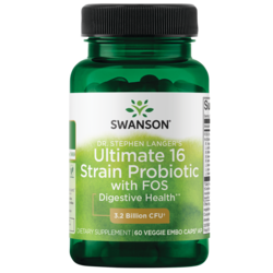 Swanson ProbioticsDr. Stephen Langer's Ultimate 16 Strain Probiotic  with FOS