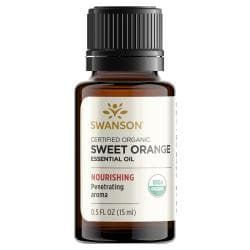 Swanson AromatherapyCertified Organic Sweet Orange Essential Oil