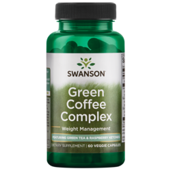 Swanson Best Weight-Control Formulas Green Coffee Complex with Green Tea & Raspberry Ketones