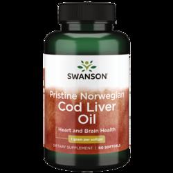 Swanson EFAs Pristine Norwegian Cod Liver Oil