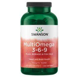Swanson EFAsMultiOmega 3-6-9 Flax, Borage & Fish Oils