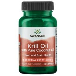 Swanson EFAsKrill Oil with Pure Coconut Oil