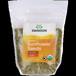 Swanson OrganicCertified Organic Sunflower Seeds Raw, Hulled