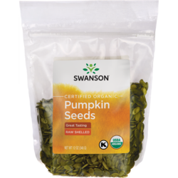 Certified Organic Pumpkin Seeds Raw, Shelled
