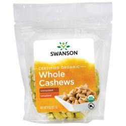 Swanson OrganicCertified Organic Cashews Raw, Whole No Salt