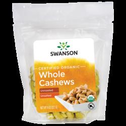 Swanson OrganicCertified Organic Cashews Raw, Whole No Salt