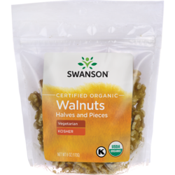 Swanson OrganicCertified Organic Walnuts, Halves & Pieces