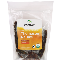Swanson Organic Certified Organic Raisins, Thompson Seedless